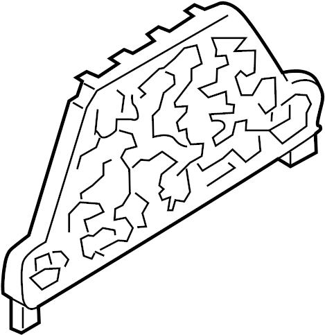 Volkswagen Jetta Relay. Fuse. Bracket. Mount. Plate