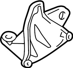 Volkswagen Passat Manual Transmission Mount Bracket. 2.7