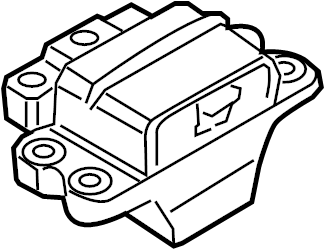 Volkswagen CC Automatic Transmission Mount. Gear. Mount