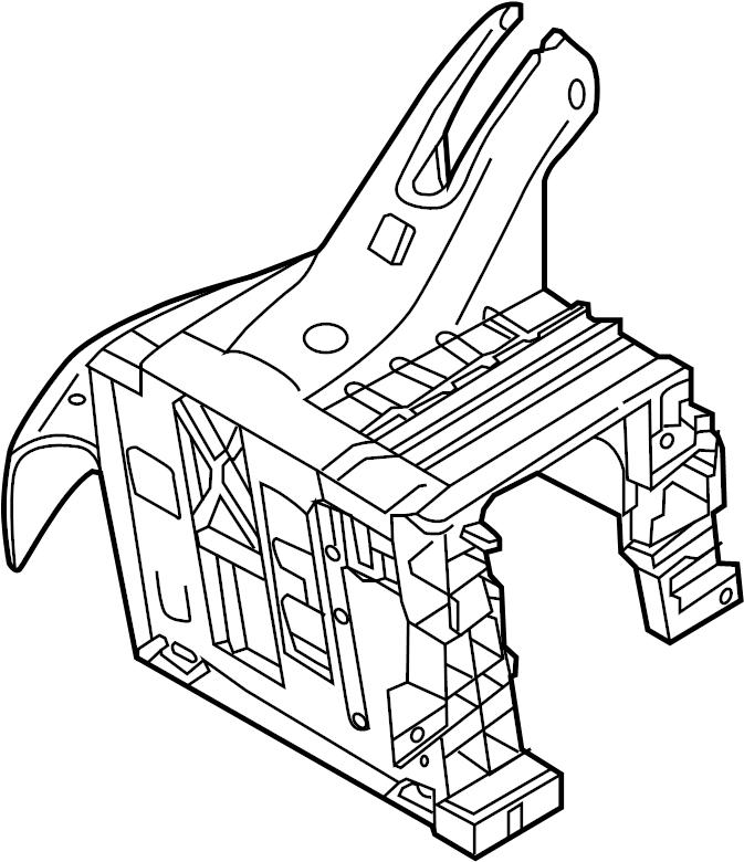 Volkswagen Jetta GLI Bracket. Mount. Module. Control
