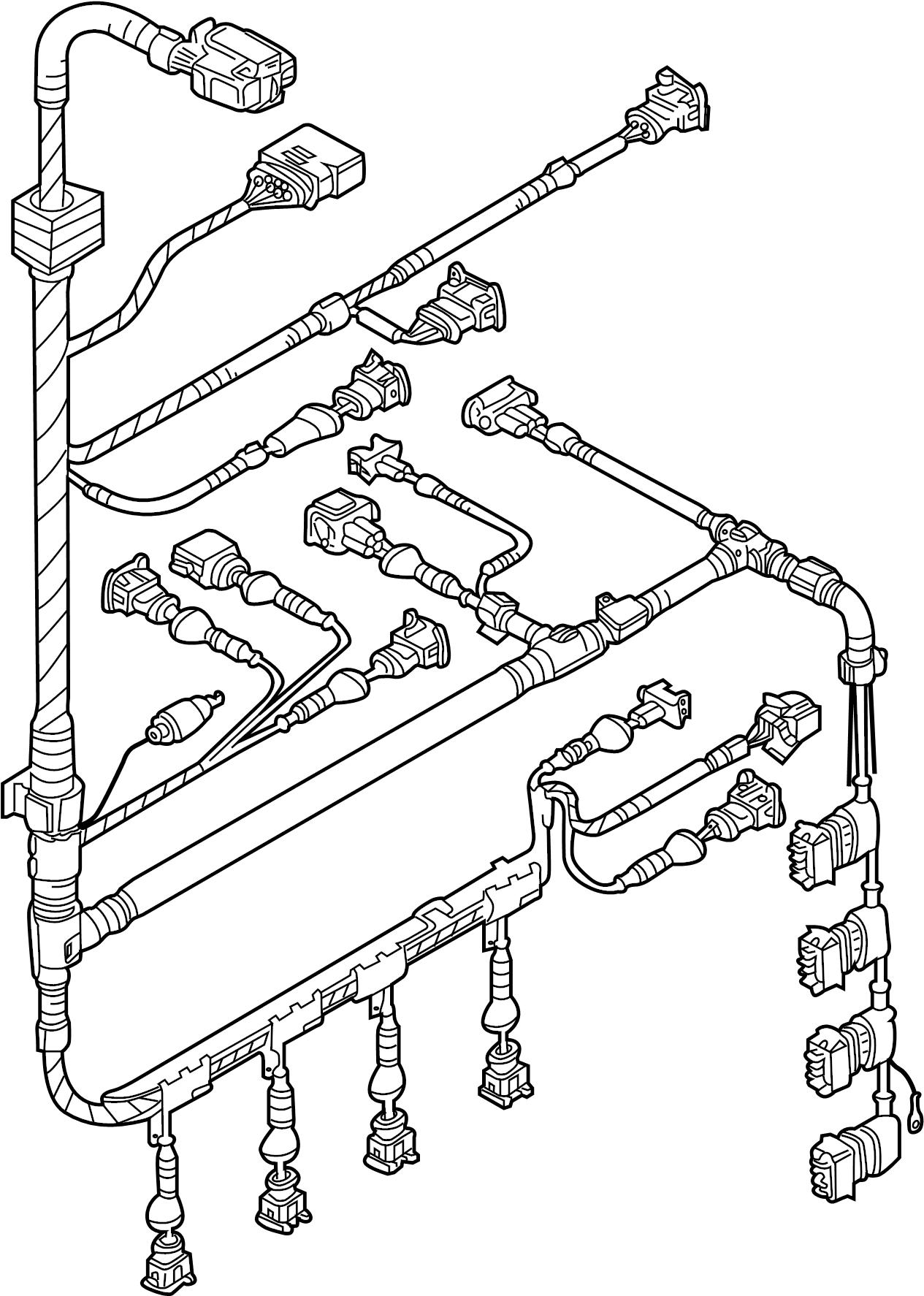 Volkswagen Beetle Convertible Engine Wiring Harness. 2.5