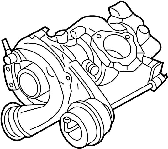 Volkswagen Golf Turbocharger. Engine, LITER, New