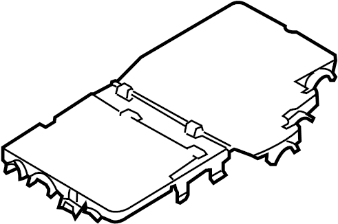 Volkswagen Phaeton Fuse Box Cover. REAR FUSE BOX. Upper