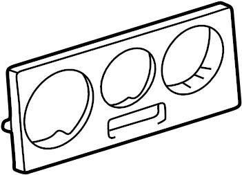 Volkswagen Passat Wagon Instrument Panel Bezel. Manual AC