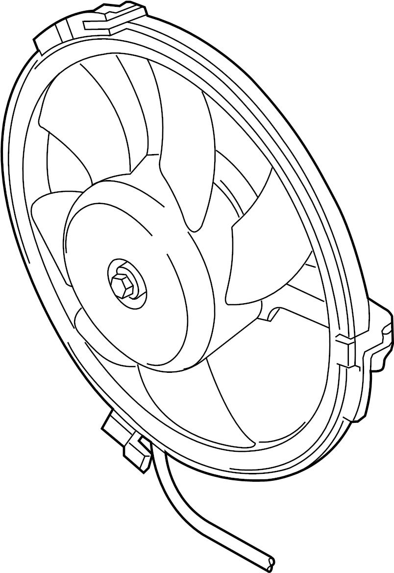 Volkswagen Passat Wagon Engine Cooling Fan Motor. LITER
