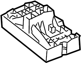 Volkswagen Passat Relay Box. WAGON, Plate, SEDAN
