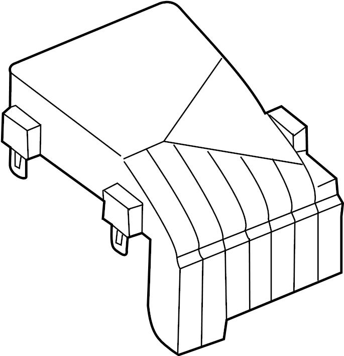 Volkswagen CC Fuse Box Cover. ENGINE, COMPARTMENT, WAGON