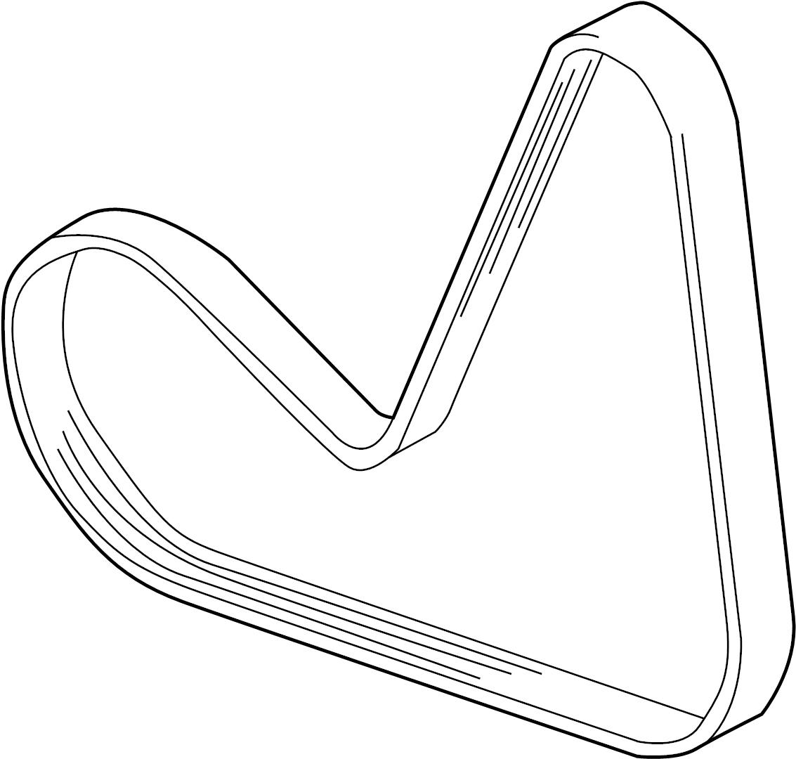 Volkswagen Golf Serpentine Belt Litersel Sedan