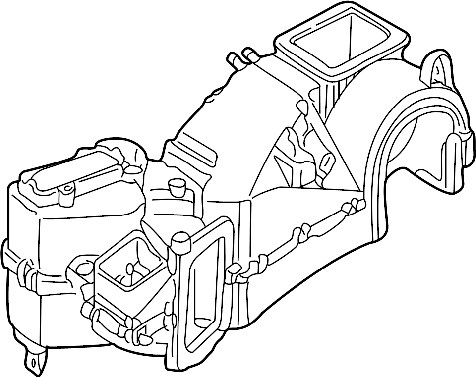 Volkswagen Jetta Hvac unit case (front, upper, lower