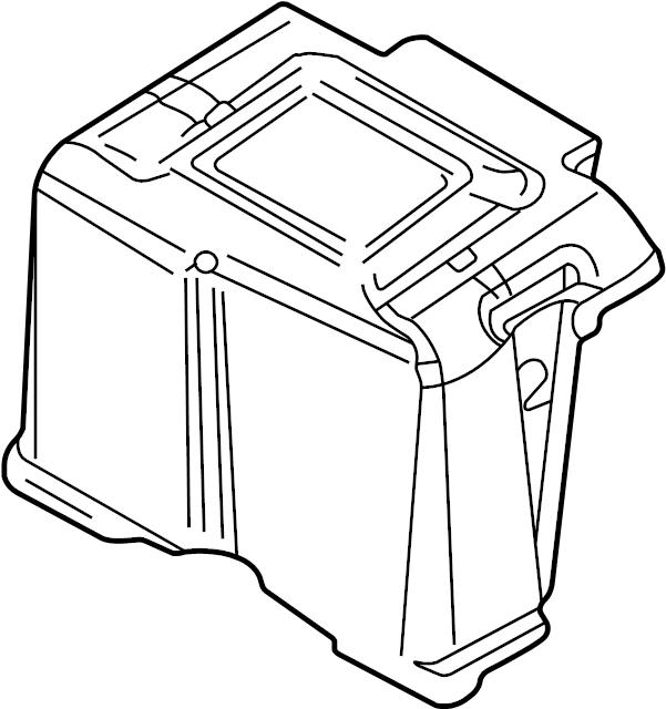 Volkswagen Jetta Wagon Battery Cover. 2002-05, gas, w/o 24