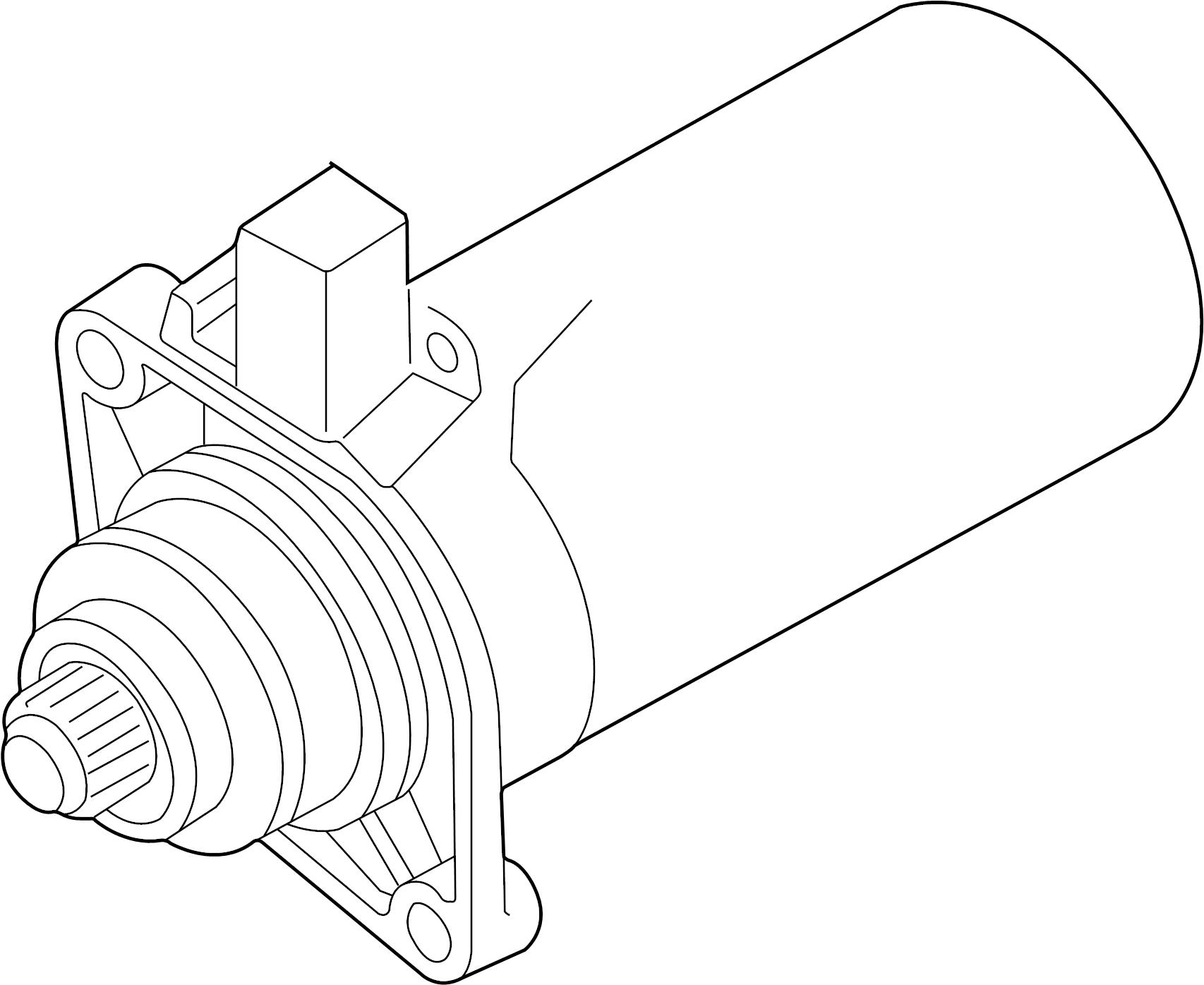 Volkswagen Golf Starter Motor. Trans, Manual, Auto
