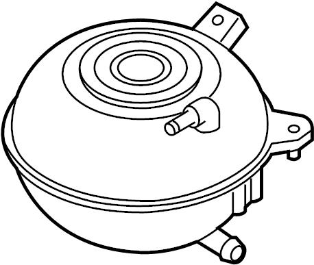 Volkswagen Jetta Engine Coolant Reservoir. CODE, LITER