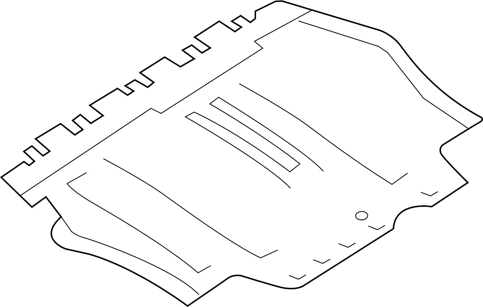 Volkswagen Beetle Radiator Support Splash Shield Coupe