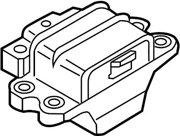 Volkswagen Jetta Automatic Transmission Mount. Gear. Mount