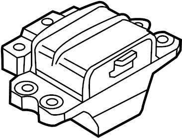 Volkswagen Jetta Automatic Transmission Mount. Left