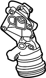 Volkswagen Beetle Engine Oil Filter Housing. 2.5 LITER