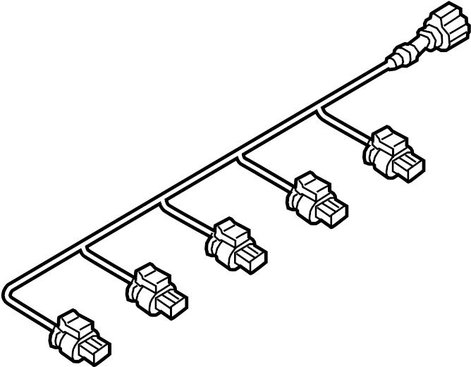 Volkswagen Jetta Hybrid Parking Aid System Wiring Harness