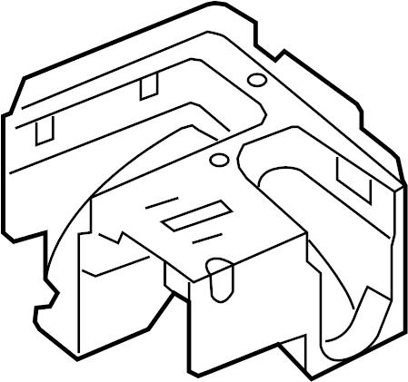 Volkswagen Jetta Wagon Bracket. Fuse. Relay. Box. AND
