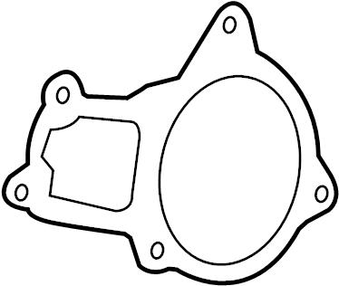 Volkswagen Routan Engine Water Pump Gasket. 3.8 LITER