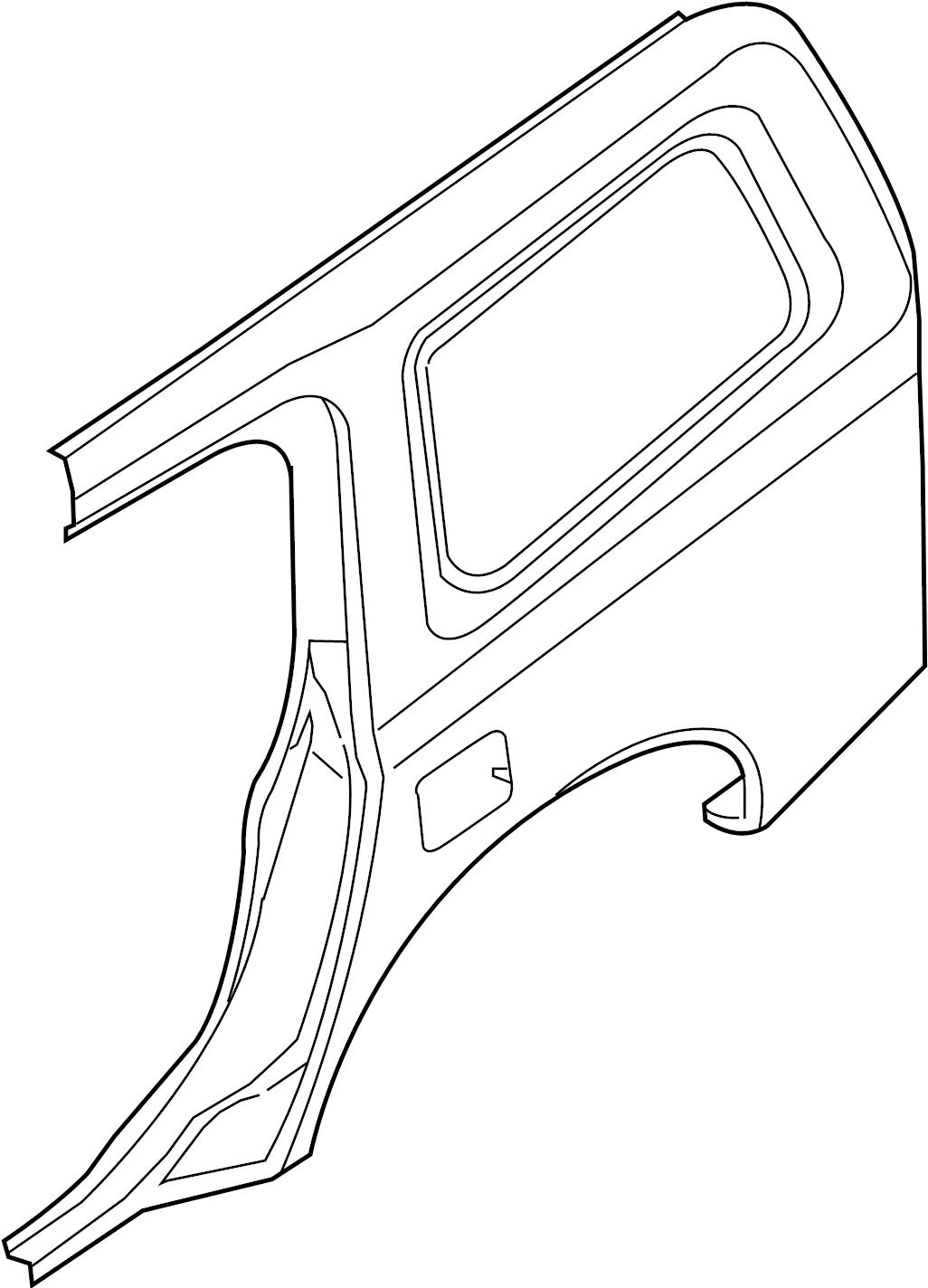 INFINITI QX56 Quarter Panel (Left, Rear). FITTING, FENDER