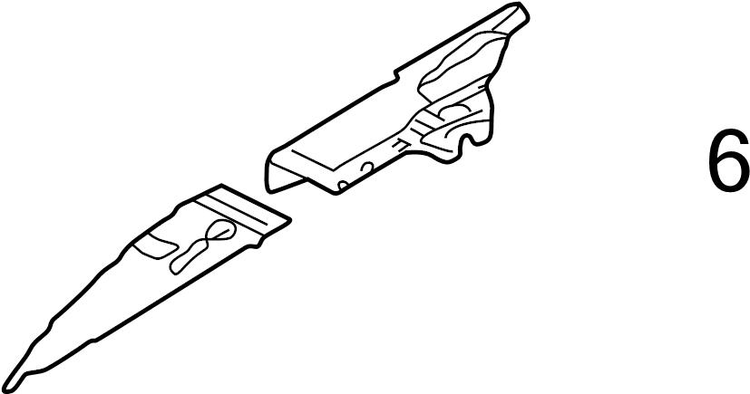INFINITI I35 Reinforcement Hoodledge. (Left, Front