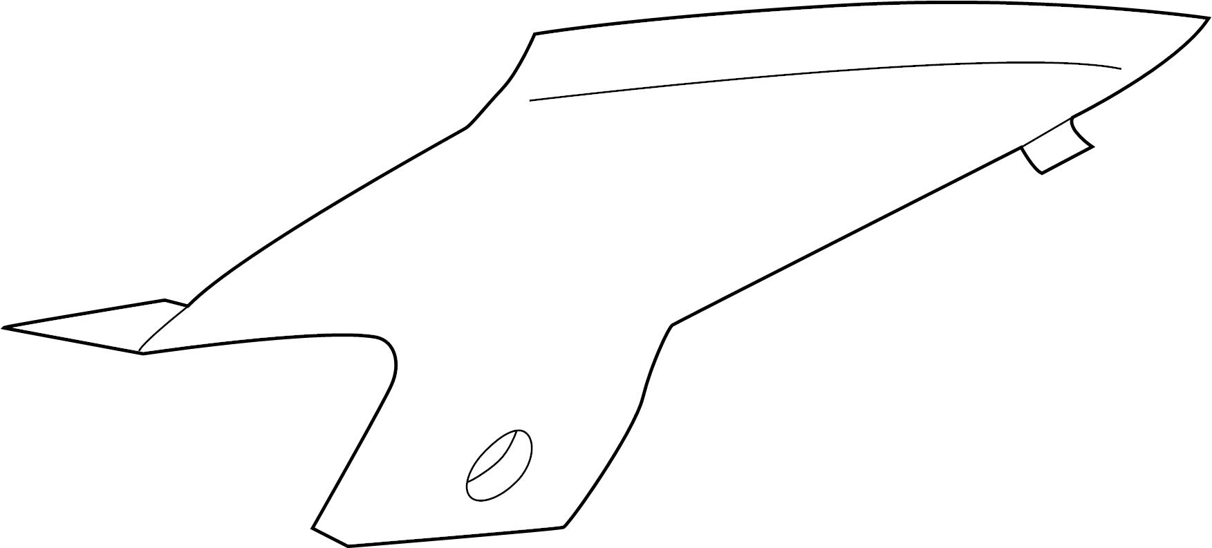 INFINITI I35 Interior Quarter Panel Trim Panel (Left, Rear
