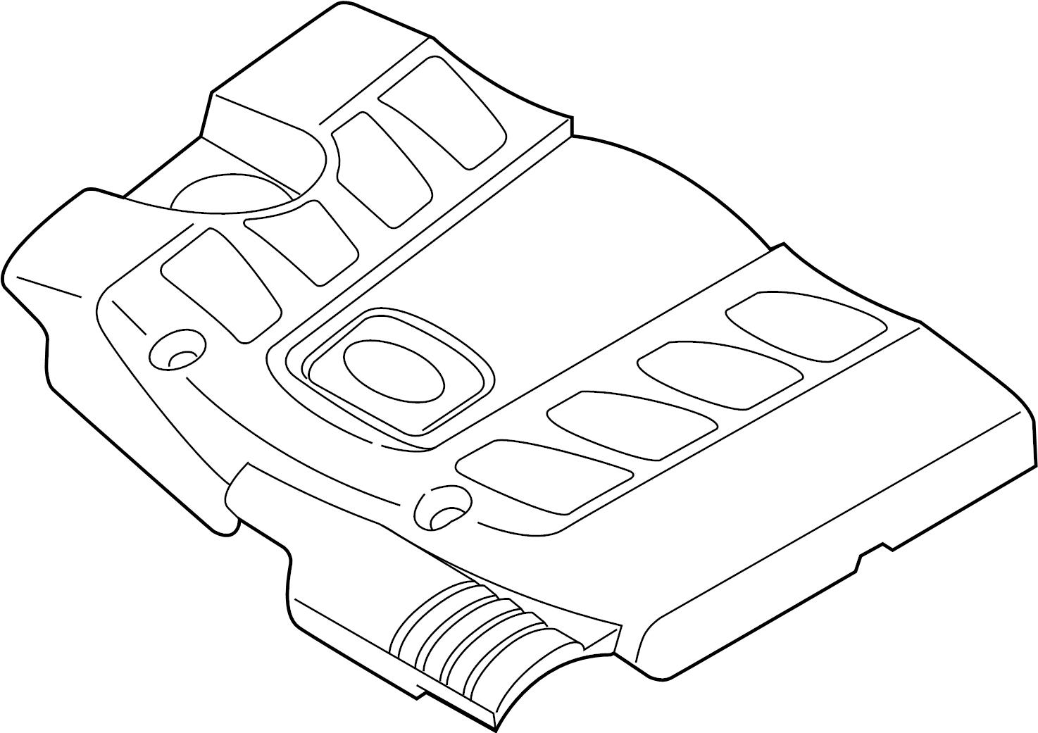Infiniti Qx56 Engine Cover Exhaust