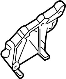 INFINITI QX4 A/c compressor bracket. Mounting, hvac