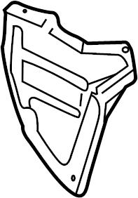 INFINITI QX4 Quarter Panel Splash Shield (Right, Rear