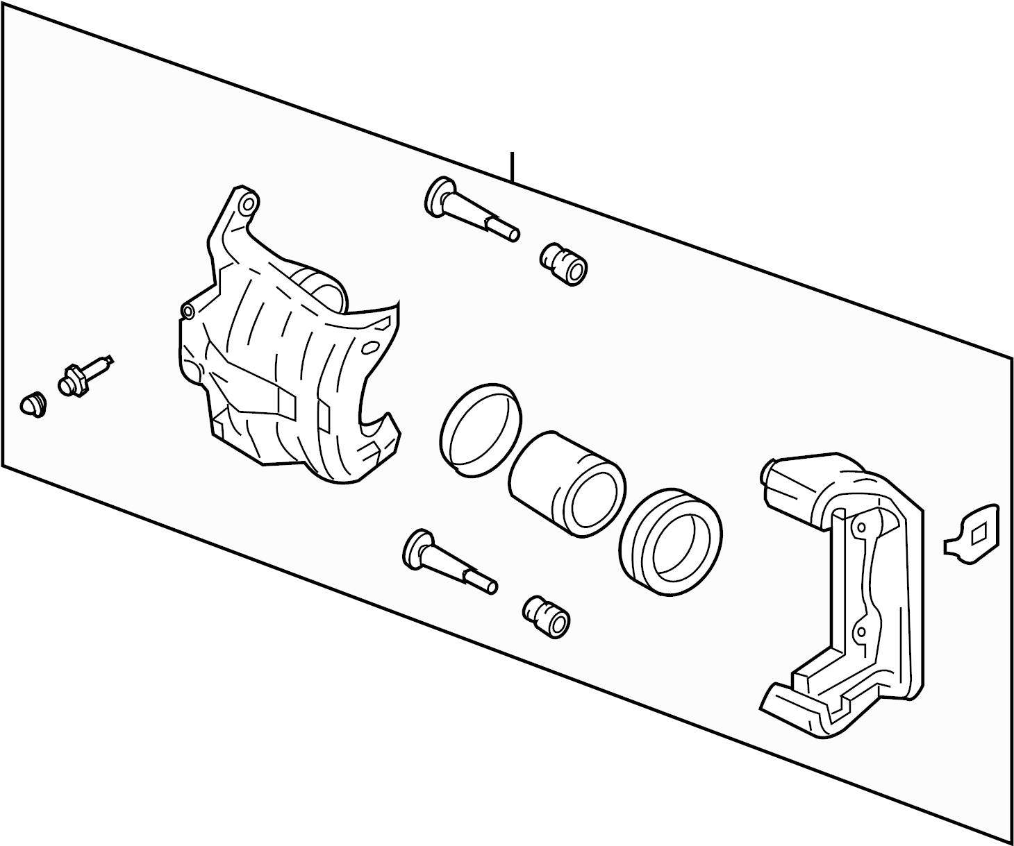 Infiniti G35 Disc Brake Caliper Right Front Track