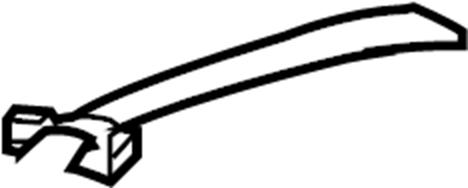 INFINITI G35 Seat Belt Guide (Right, Rear). HOOK, PACKAGE