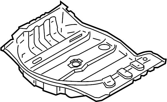 INFINITI G35 Floor Pan (Rear). Trim, PANEL, Interior, Body