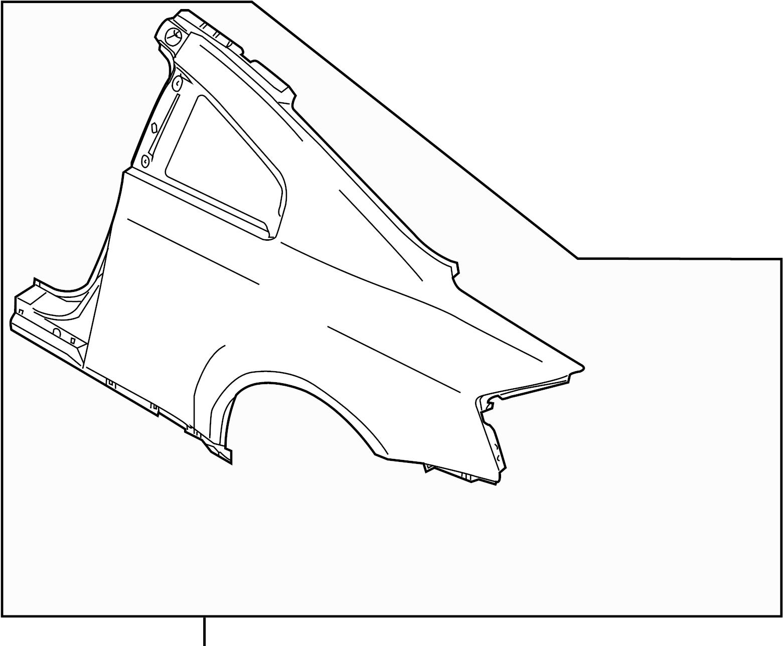 Infiniti G35 Quarter Panel Left Rear