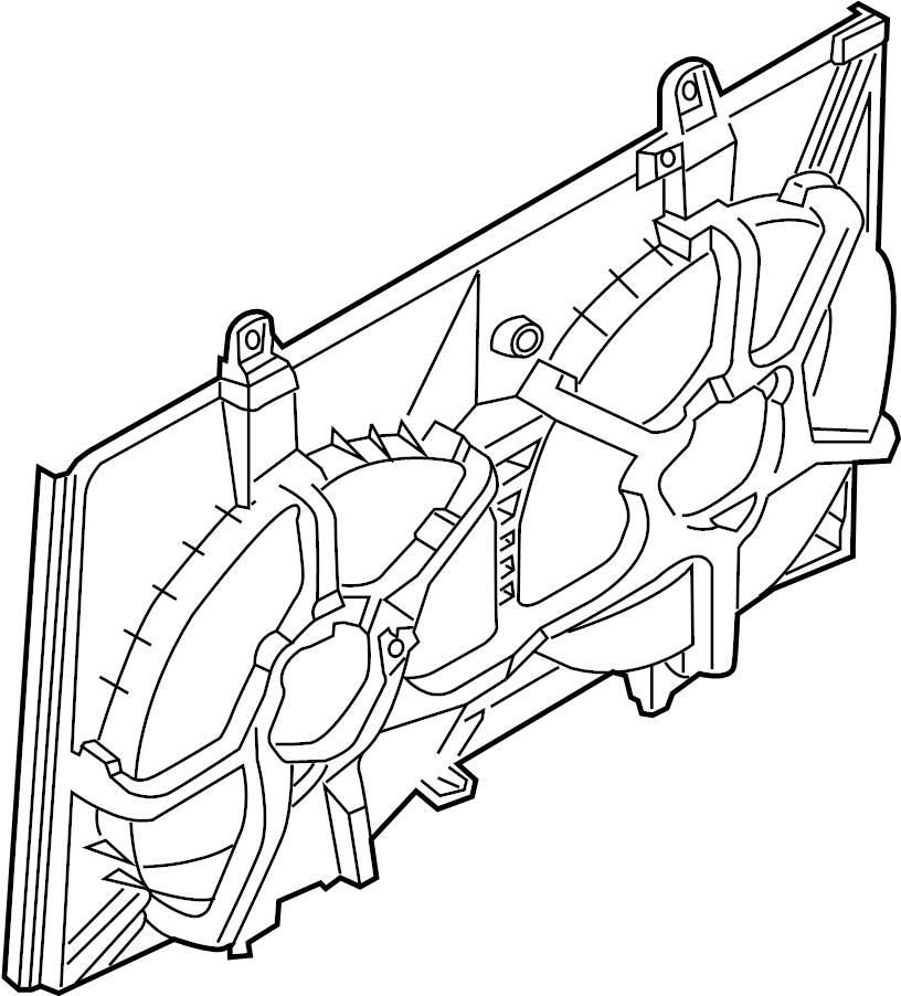 INFINITI FX35 Engine Cooling Fan Shroud. FITTING, RADIATOR