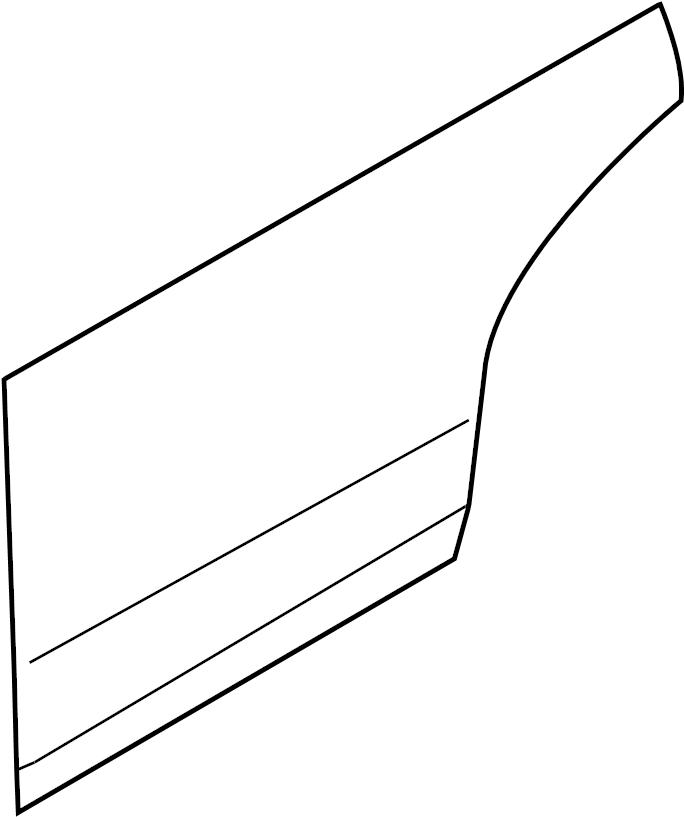 INFINITI M45 Door Outer Panel (Right, Rear). Trim