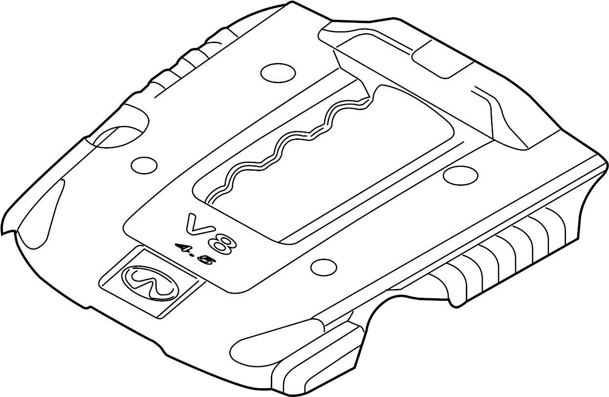 INFINITI M45 Engine Cover. MANIFOLD, INTAKE, EXHAUST