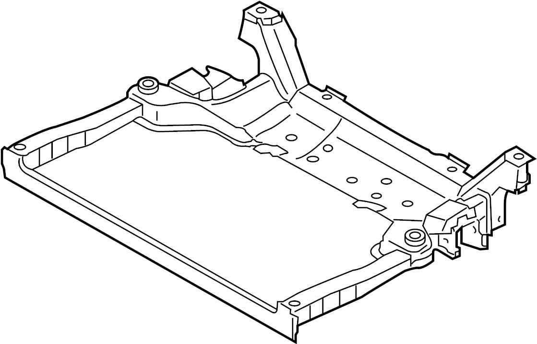 INFINITI M45 Engine Cradle (Front). MEMBER, LINK, ABSORBER