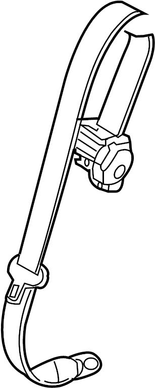 INFINITI EX35 Seat Belt Lap and Shoulder Belt (Rear