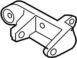 INFINITI Q45 Power Steering Pump Bracket. Suspension