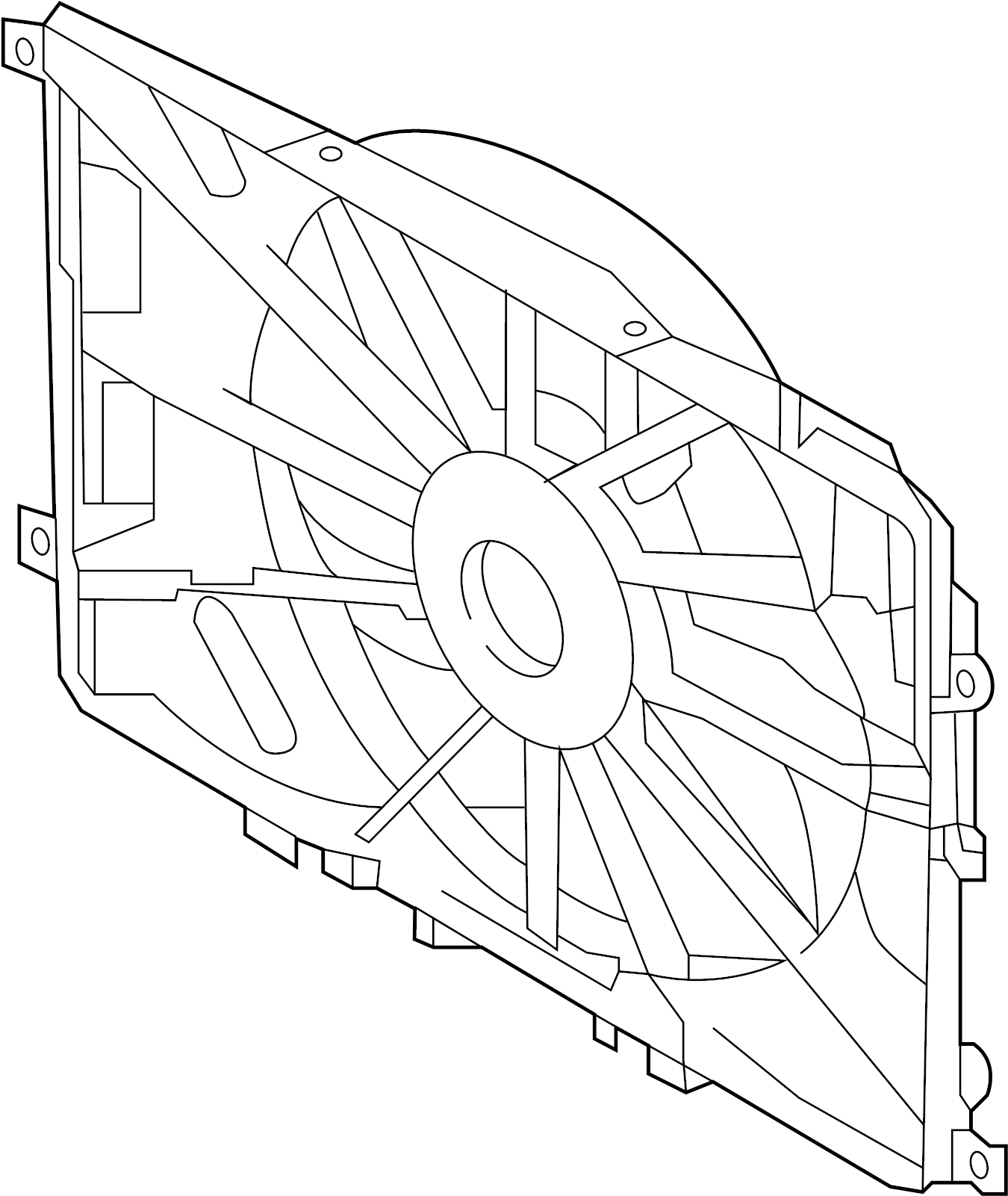 INFINITI G20 Engine Cooling Fan. FITTING, RADIATOR, SHROUD