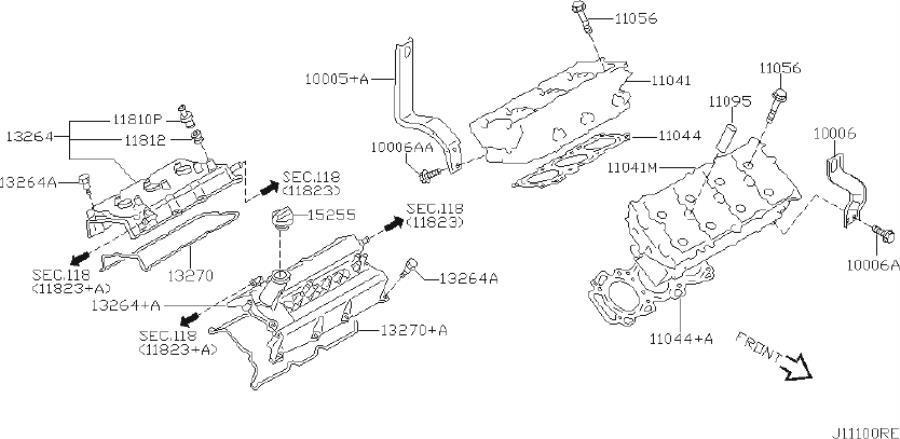 INFINITI I35 Slinger Engine. COMPONENT, ASSEMBLY, ROCKER