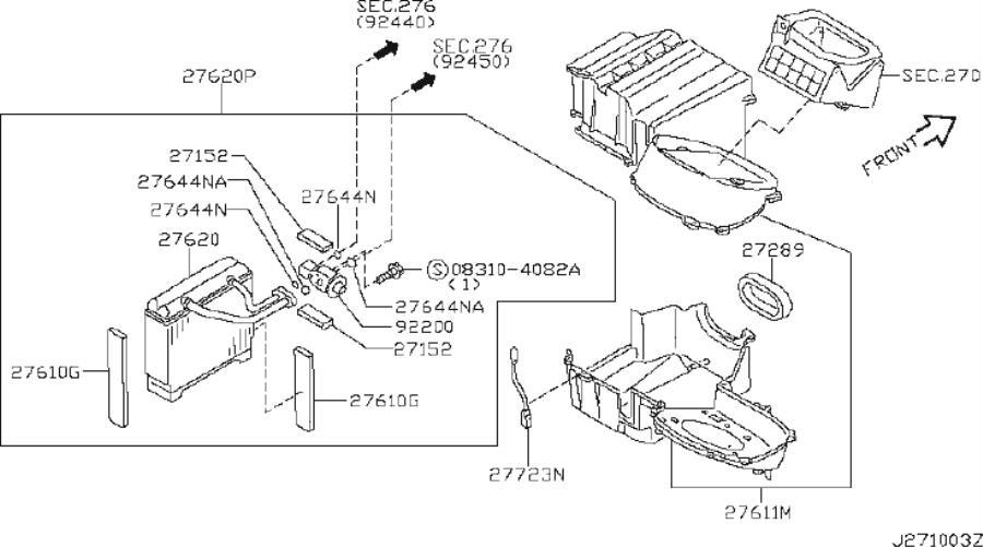 INFINITI I35 A/c expansion valve seal. Air, con, auto