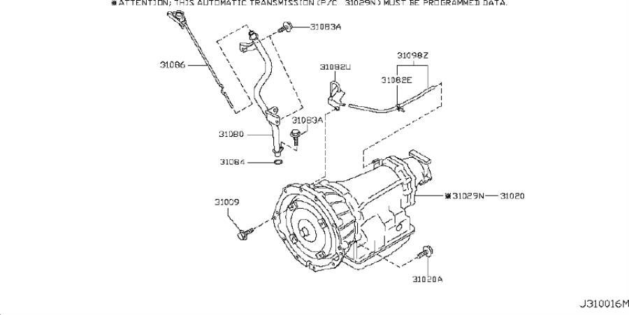 INFINITI G37 Automatic Transmission with O PROGRAMMING