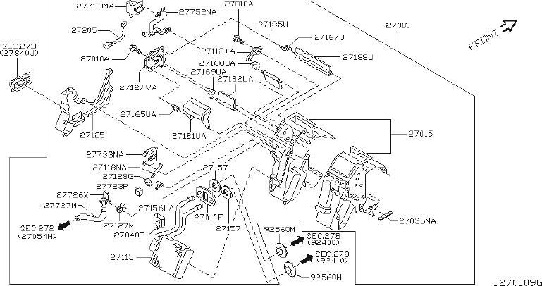 INFINITI Q45 Hvac Mode Door Lever Link. HEATER, ASSIST