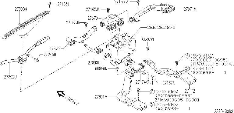 INFINITI Q45 Clamp Antenna Cord. Clip Trim. Clip Wiring