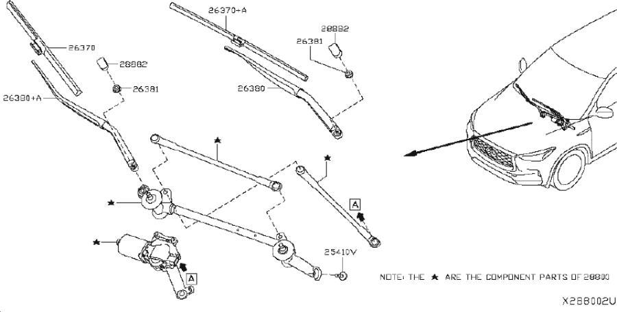 INFINITI QX50 Windshield Wiper Blade. WAG, System