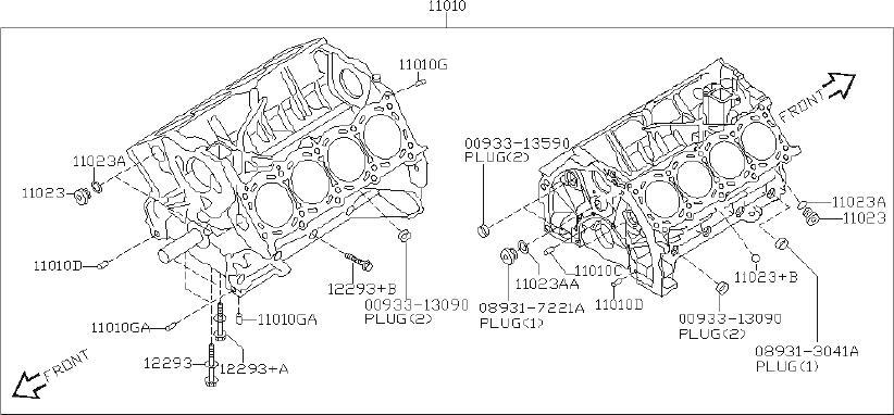INFINITI QX56 Engine Crankshaft Main Bearing Cap Bolt