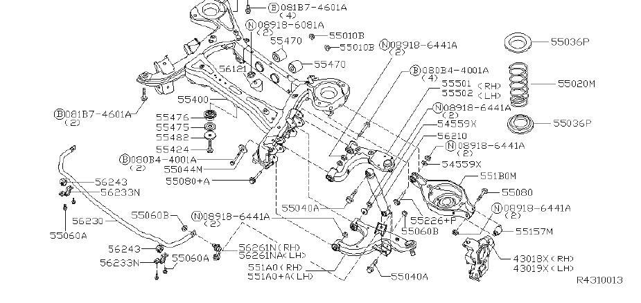INFINITI QX56 Suspension Subframe Crossmember (Rear