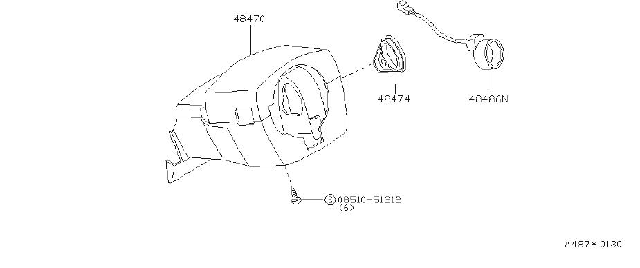 INFINITI J30 Cover Set Steering Column. Suspension, SHELL