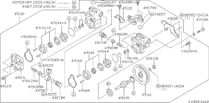 INFINITI J30 Connector Power Steering Pump. HICAS